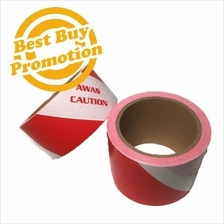 Caution Tape Hazard Tape 48mm/72mm x 66m+ - Red/White