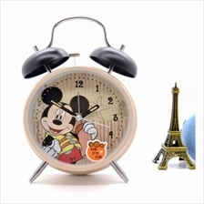 Mickey Mouse Twin Bell Alarm Table Clock 4Inch Metal STRONG Sound