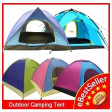 Double Sinlge Layer Door Auto Picnic Camping Tent 2/4 Person FREE Bag