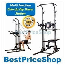 Multifunction Chin Pull Up Dip Station Sit Up & TRX Resistance MCUD610