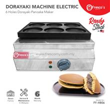 Electric Powered Dorayaki Waffle Maker Six Holes