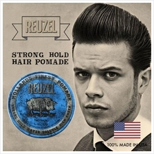 Reuzel Blue Strong Hold Water Soluble High Sheen Hair Pomade (113g)