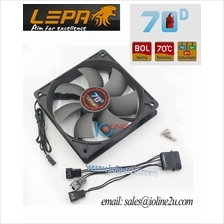 LEPA LP70D12R 12V/7V/5V Cooling Fan 120mm*25mm 12cm 70 °C High Temp BOL V