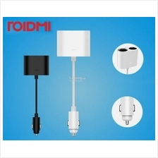 Original XIAOMI ROIDMI 1 to 2 Car Cigarette Lighter Charger Adapter