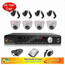 CCTV 4-CH A-HD DVR Recorder with Infra Red Dome Camera System