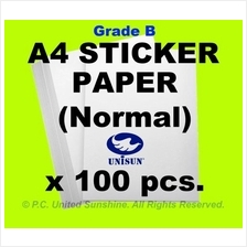 x100pcs A4 STICKER PAPER (Simili) Grade B Creative Fun Label Stickers