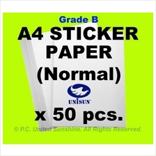 x50pcs A4 STICKER PAPER (Simili) Grade B Creative Fun Label Stickers