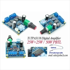 TI TPA3118 12V 24V 25W+25W 2-Channel Digital Audio Amplifier 50W PBTL Bridge
