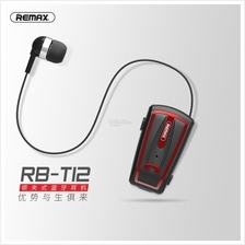 Remax Clip On Bluetooth Headset And Handfree In One RB-T12