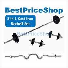 Cast Iron Weightlifting Barbell Set Dumbbell Gym Workout Set 20~60kg