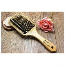 SD920 Wooden Paddle Antistatic Hair Brush Massage Comb