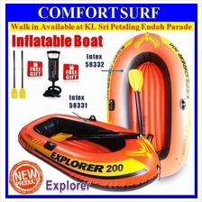 INTEX Explorer 200/300 2/3 Person Kayak Rescue Inflatable Boat Fishing