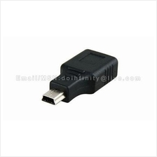 New USB A Female to Mini USB B 5 Pin Male Adapter Converter Car MP3 PC
