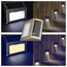 (3pcs) Outdoor Solar LED Light Drive Way Fence Garden Wall Stair Lamp