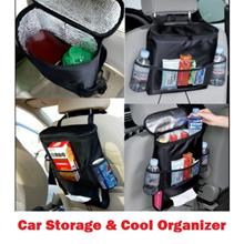 Car Cooler Bag Seat Organizer Multi Pocket Back Seat Organiser