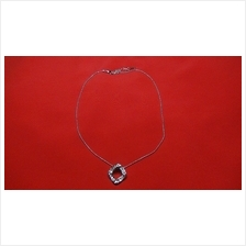 Fashion Silver Exotic Square Crystal Shape Necklace