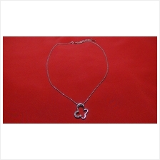 Fashion Silver Butterfly Crystal Shape Necklace