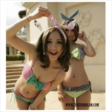 Korean Wired Cute Bunny-Ears Hair Band (Blue Dot Design)