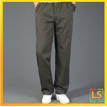 Plus Size for Men Straight Cut Leisure Loose Long Trouser Pants