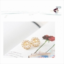 04685 Korean design round pearl earrings
