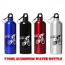 750ml Portable Aluminum Cycling Bicycle Camping Water Bottle Outdoor