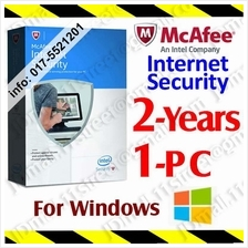 McAfee Internet Security 2017 2YEAR 1PC LiveSafe AntiVirus anti virus