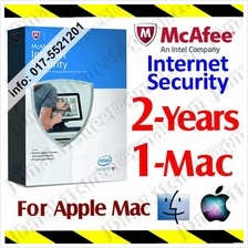 McAfee Internet Security Mac 2017 2YEAR 1PC Apple AntiVirus anti virus
