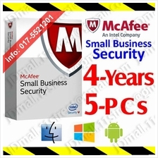 McAfee Small Business Security 2017 4YEARs 5PCs AntiVirus anti virus