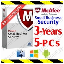 McAfee Small Business Security 2017 3YEARs 5PCs AntiVirus anti virus