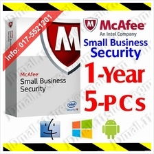 McAfee Small Business Security 2017 1YEAR 5PCs AntiVirus anti virus
