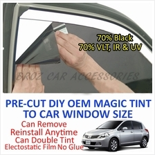 Nissan Latio Magic Tinted Solar Window ( 4 Windows & Rear ) 70% Black