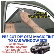 Perodua Myvi Old Magic Tinted Solar Window (4 Window & Rear) 70% Black