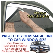 Perodua Kelisa Magic Tinted Solar Window (4 Windows & Rear) 70% Black