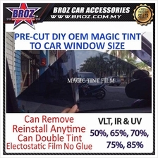 Custom Fit Car Solar Window Magic Tinted (4 Side Window & Rear Window)
