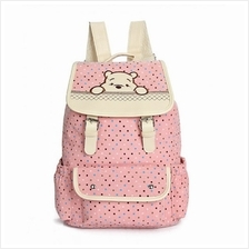 MC175 - Winnie The Pooh Cute Backpack / Polka Cute Canvas Bag)