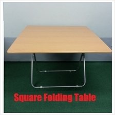 Folding Table Square Foldable Dining Coffee Wood Table Meja Kayu