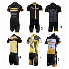 New shorts sleeve cycling jersey Livestrong Armstrong Adidas padded
