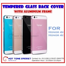 Huawei Honor 4X 4C 5X 7 Tempered Glass Back Cover Case