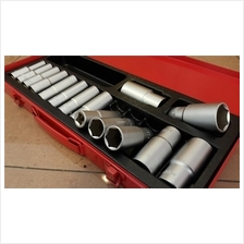 "Yearsway Taiwan 1/2"" 15PCS 6PT DEEP SOCKET SET ID335123"
