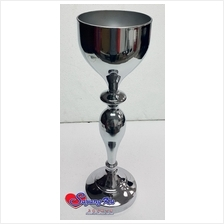 CHROME FLOWER STAND / VASE K1732