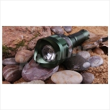 Rechargable LED Strong Flashlight Green Color