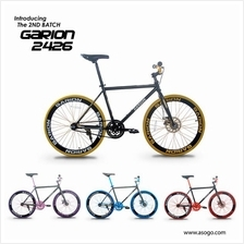 Garion G2426-BC 24' x 1.38 Disc Brake Fixie / Fixed Gear Bike 1sp