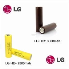 Original LG HE4 2500mah / HG2 18650 Battery 3000mah 100% Genuine
