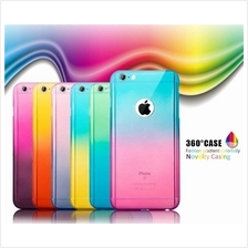 iphone 5 5S SE 6 6S 7 PLUS Colorful 360 Protection Tempered Glass case