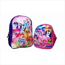 Little Pony Primary School Bag Backpack Promotion Set Big + Small)