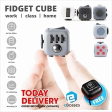 READY STOCK! New Fidget Cube Stress Reliever Magic Cube + FREE POUCH