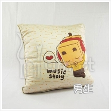 Music Boxman Car Seat Passenger Square Pillow 100% Cotton