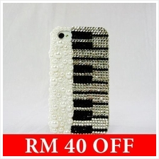 Handmade AA rhinestones Piano Music IPHONE 4/4S Case (Limited Edition)