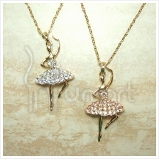 Ballet Girl Alloy Flashing Diamond Necklace