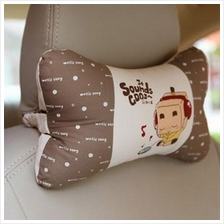 Music Boxman Car Seat Neck Support / Pillow 100% Cotton 2pcs
